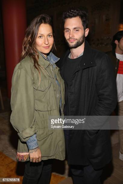 Domino Kirke and Penn Badgley attend The Weinstein Company and Lyft host a special screening of 3 Generations on April 30 2017 in New York City