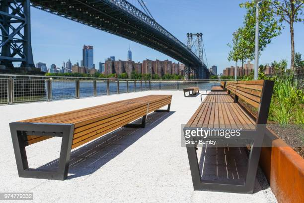 domino park, williamsburg, brooklyn - williamsburg new york city stock pictures, royalty-free photos & images