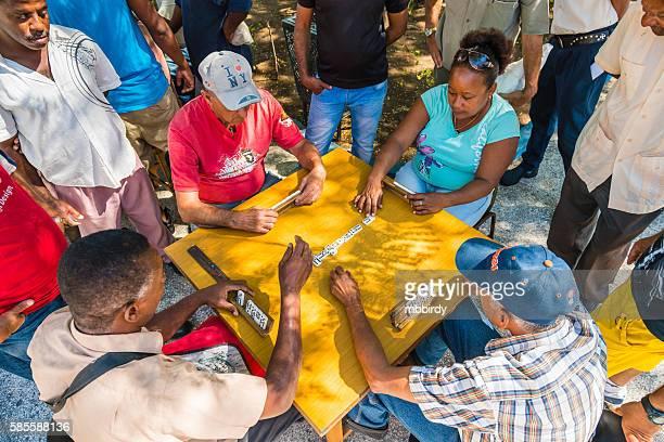 Domino players in Santiago de Cuba, Cuba