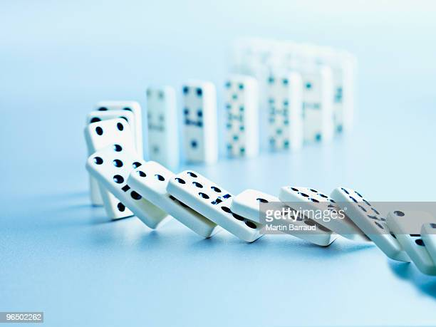 Dominoes falling in a row