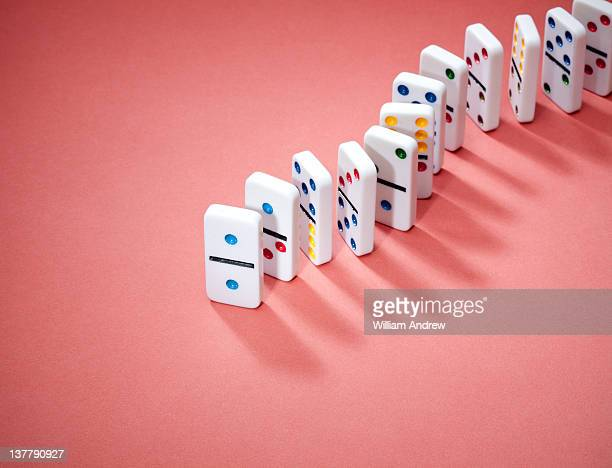 Dominoes in row