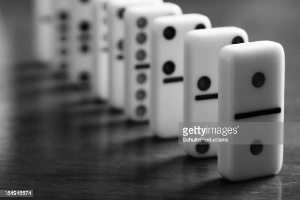 Domino liegen in Line