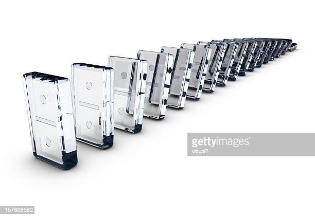 Dominos aus Glas