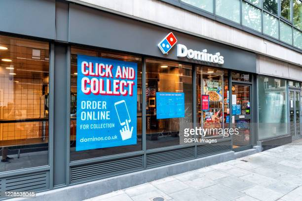 Dominos shop in High Holborn, London.