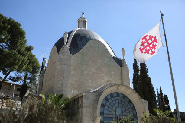 Dominus Flevit and the Franciscan flag