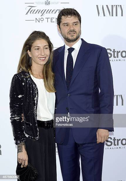 Domitilla Bertusi and Audrey Hepburn's son Luca Dotti attend the 'Hubert de Givenchy' exhibition opening cocktail at the ThyssenBornemisza Museum on...