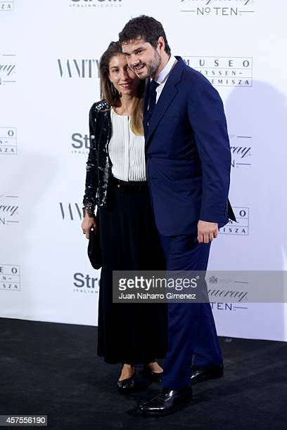 Domitilla Dotti and Luca Dotti attend Vanity Fair cocktail party at Museum Thyssen on October 20 2014 in Madrid Spain