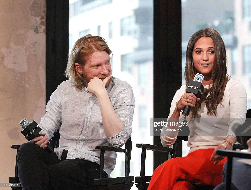 "AOL BUILD Speaker Series: Domhnall Gleeson And Alicia Vikander Discuss Their Film ""Ex Machina"" : News Photo"