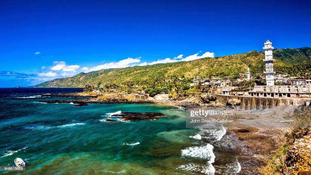 Domoni, on Anjouan Island : Stock Photo