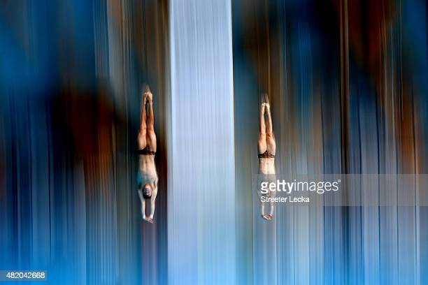 Domonic Bedggood and James Connor of Australia compete in the Men's 10m Platform Synchronised Diving Final on day two of the 16th FINA World...