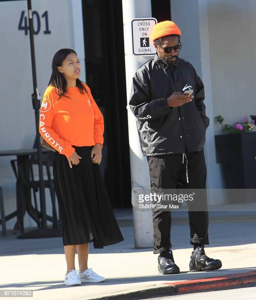 Domonique Maldanado and Andre 3000 are seen on November 6 2017 in Los Angeles CA