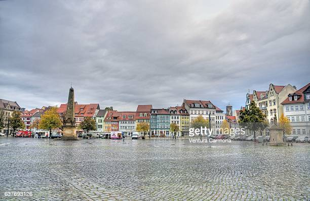 domplatz (cathedral square) in erfurt - germany - erfurt stock pictures, royalty-free photos & images
