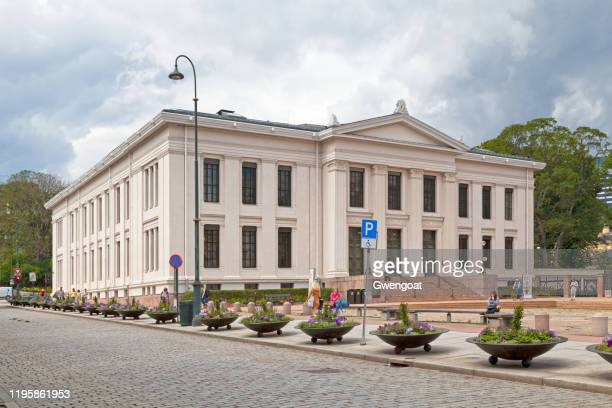 domus bibliotheca of the faculty of law in oslo - gwengoat stock pictures, royalty-free photos & images
