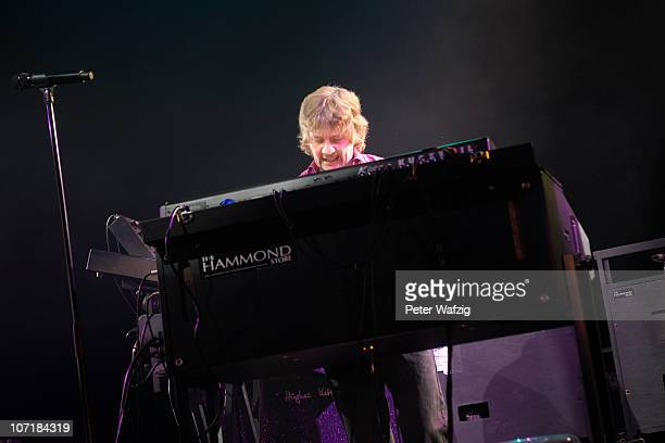 Don Airey of Deep Purple performs on stage at the Grugahalle on November 28, 2010 in Essen, Germany.
