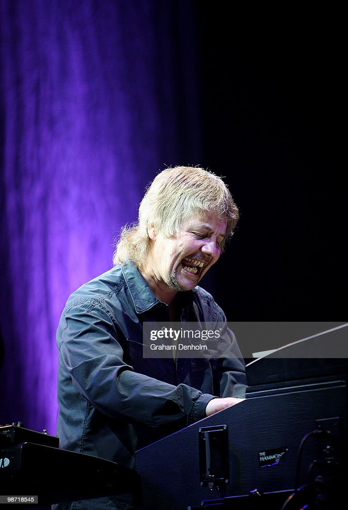 Don Airey of Deep Purple performs on stage during their concert at the Sydney Entertainment Centre on April 28, 2010 in Sydney, Australia.