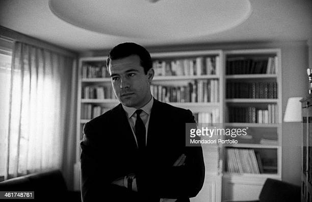 Don Alfonso of Bourbon grandson of king Alfonso XIII of Spain taken in the living room of his flat during an interview the young aristocrat born in...