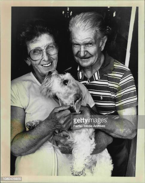 Don amp Winifred Mac Pherson of Dundas with Michelle their champion 6 year old Sealyham Terrier who was poisoned together with Mrs Mac Pherson after...