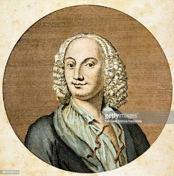 Don Antonio Vivaldi a composer violinist and priest of Italy citizen of the Republic of Venice prominent exponent of late Venetian baroque portrayed...