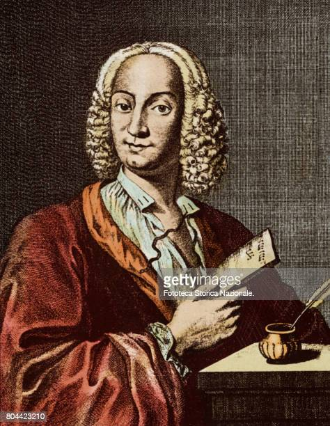 Don Antonio Vivaldi italian composer violinist and priest citizen of the Republic of Venice prominent exponent of late Venetian baroque portrayed on...