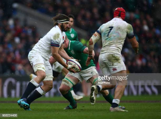 Don Armand of England during NatWest 6 Nations match between England against Ireland at Twickenham stadium London on 17 Mar 2018
