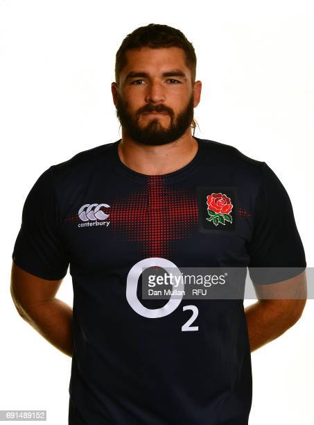 Don Armand of England poses for a portrait during the Argentina Tour Squad photo call at Twickenham Stadium on June 2 2017 in London England