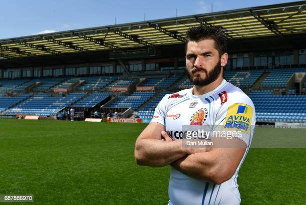 Don Armand of Exeter Chiefs poses during the media day ahead of the Aviva Premiership Final against Wasps at Sandy Park on May 24 2017 in Exeter...