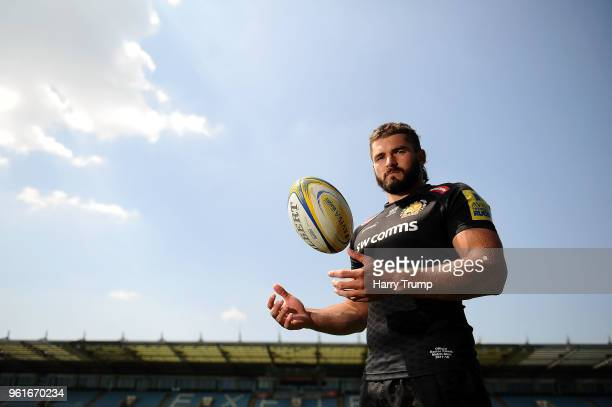 Don Armand of Exeter Chiefs poses for a photo during an Exeter Chiefs Media Session at Sandy Park on May 23 2018 in Exeter England