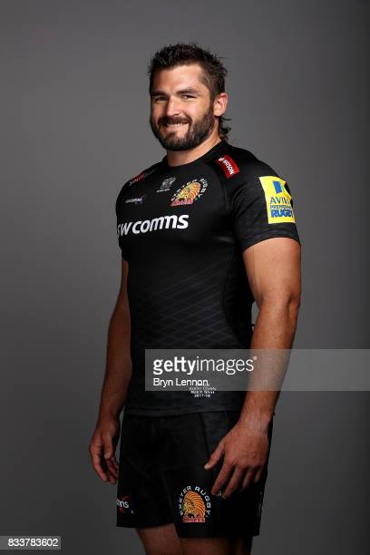 Don Armand of Exeter Chiefs poses for a portrait during the Exeter Chiefs squad photo call for the 20172018 Aviva Premiership Rugby season on August...