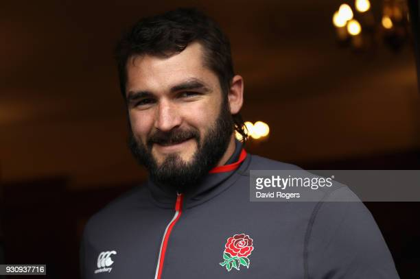 Don Armand poses during the England media session held at Pennyhill Park on March 12 2018 in Bagshot England