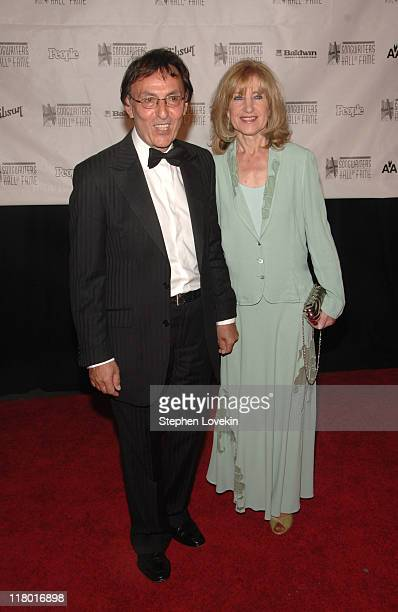 Don Black and guest during 38th Annual Songwriters Hall of Fame Ceremony - Arrivals at Marriott Marquis in New York City, New York, United States.