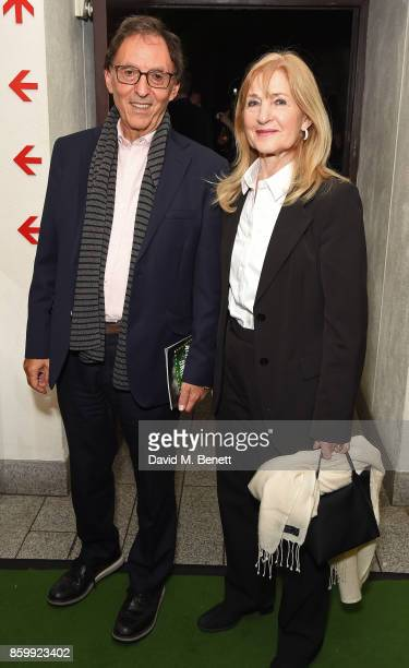 Don Black and Shirley Blackstone attend the press night performance of Mel Brooks' Young Frankenstein at The Garrick Theatre on October 10 2017 in...