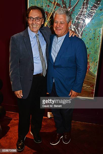 Don Black and Sir Cameron Mackintosh attend a luncheon to celebrate the 40th anniversary of Stage One at The Hospital Club on May 23 2016 in London...