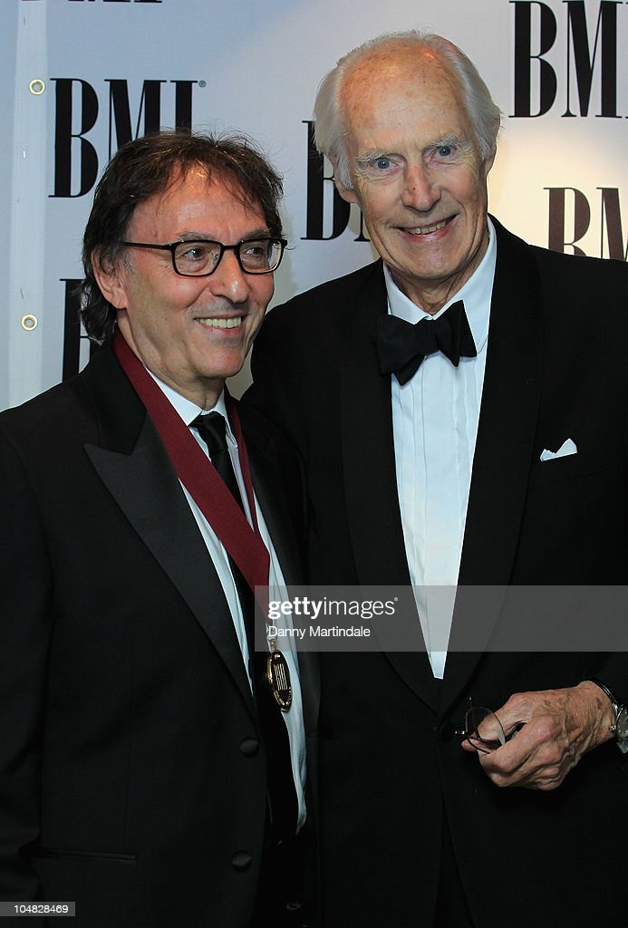 Don Black and Sir George Martin arrive at BMI Awards at The Dorchester on October 5, 2010 in London, England.