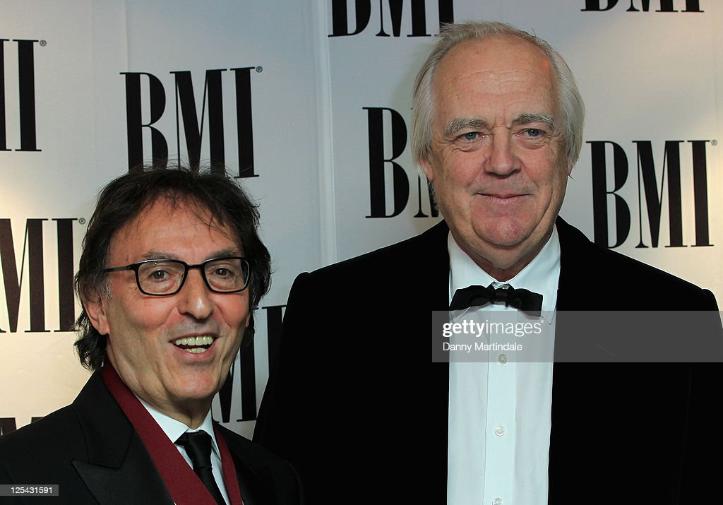 Don Black and Tim Rice arrive at BMI Awards at The Dorchester on October 5, 2010 in London, England.