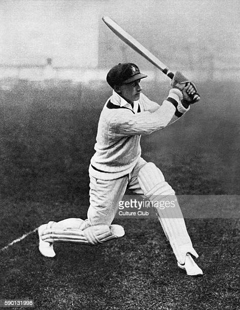Don Bradman record breaking Australian cricketer playing at Lords in 1930 where he made the highest score of the year