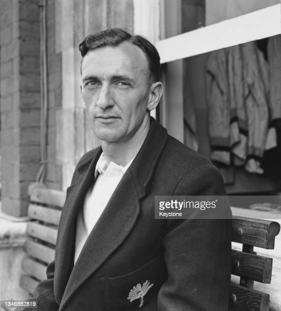 Don Brennan , Wicketkeeper for Yorkshire County Cricket Club circa July 1949 at the Headingley Cricket Ground, Leeds, Yorkshire, England.