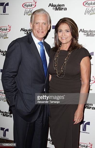Don Browne and Maria Browne attend screening of Telemundo's Alguien Te Mira at The Biltmore Hotel on September 7 2010 in Coral Gables Florida