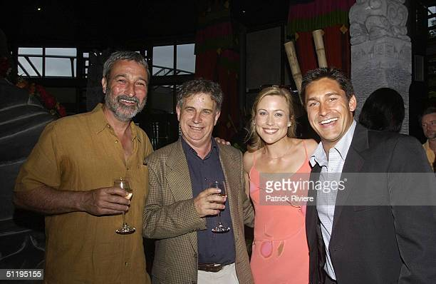 Don Burke, Richard Walsh, Tara Dennis, Jamie Durie at 'Backyard Blitz'. Host Jamie Durie launches his latest book 'Patio' garden design and...