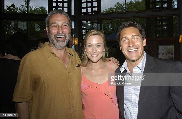Don Burke, Tara Dennis, Jamie Durie at 'Backyard Blitz'. Host Jamie Durie launches his latest book 'Patio' garden design and inspiration at Chinta...