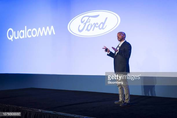 Don Butler executive director of connected vehicle and services at Ford Motor Co speaks during the