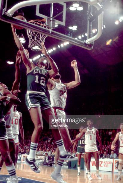 Don Chaney of the Boston Celtics during the 1974 NBA Finals at the Milwaukee Arena in Milwaukee, Wisconsin on May 5. 1974.