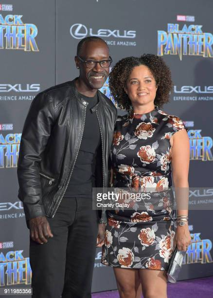 Don Cheadle and Bridgid Coulter arrive for the World Premiere of Marvel Studios' Black Panther presented by Lexus at Dolby Theatre in Hollywood on...