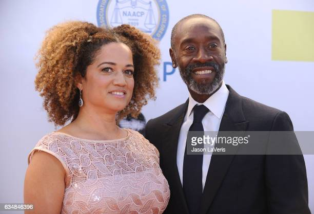 Don Cheadle and Bridgid Coulter attend the 48th NAACP Image Awards at Pasadena Civic Auditorium on February 11 2017 in Pasadena California