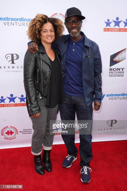 Don Cheadle and Bridgid Coulter attend the 7th Annual Ed Asner And Friends Poker Tournament Celebrity Night at CBS Studios Radford on June 01 2019 in...