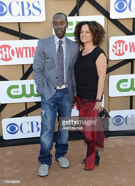 Don Cheadle and Bridgid Coulter attend the CW CBS And Showtime 2013 Summer TCA Party on July 29 2013 in Los Angeles California