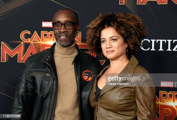 Don Cheadle and Bridgid Coulter attend the Marvel Studios Captain Marvel premiere on March 04 2019 in Hollywood California