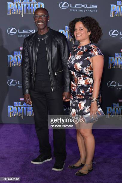 Don Cheadle and Bridgid Coulter attend the premiere of Disney and Marvel's 'Black Panther' at Dolby Theatre on January 29 2018 in Hollywood California