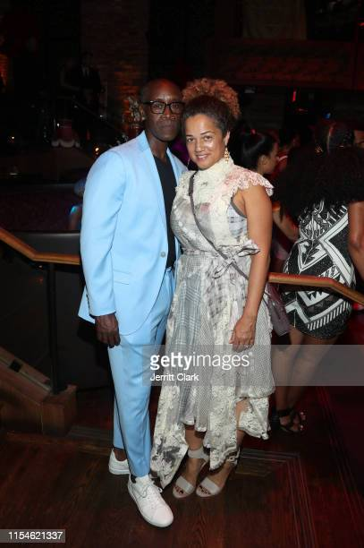 Don Cheadle and Bridgid Coulter celebrate Kevin Hart's 40th birthday at TAO with LOUIS XIII Cognac and Rémy Martin on July 06 2019 in Los Angeles...