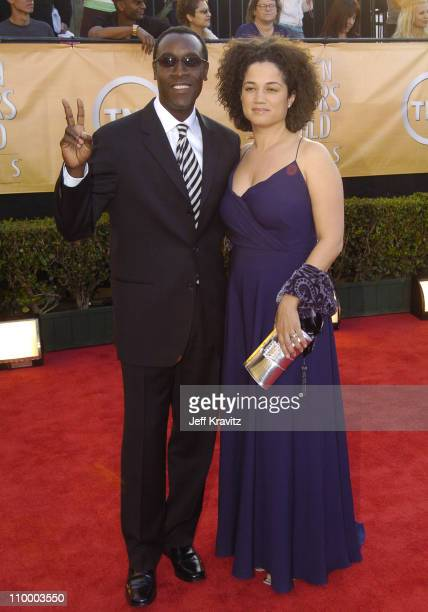 Don Cheadle and Bridgid Coulter during 2005 Screen Actors Guild Awards Arrivals at The Shrine in Los Angeles California United States