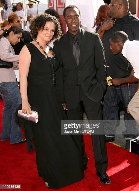 Don Cheadle and Bridgid Coulter during BET Awards 2007 Arrivals at Shrine Auditorium in Los Angeles California United States